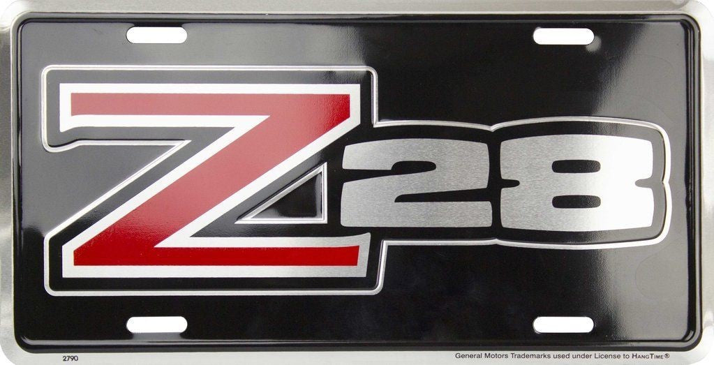 Z28 Chevrolet Camaro Aluminum Car Truck Tag License Plate Metal Sign Man Cave