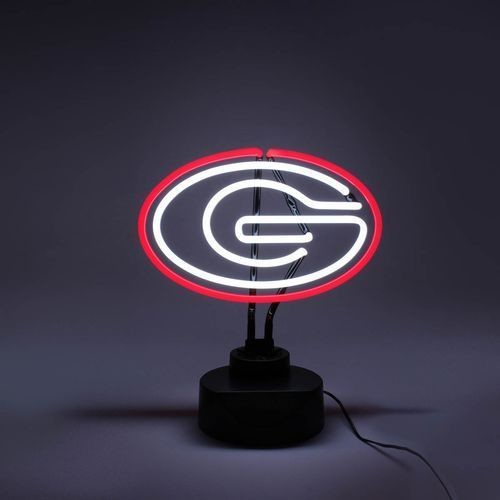 GEORGIA BULLDOGS NEON SIGN LIGHT TABLE TOP LAMP MANCAVE DESK OFFICE SPORTS ROOM