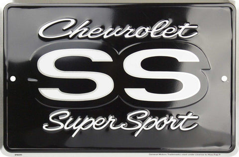 "CHEVROLET CORVETTE 12"" ROUND EMBOSSED METAL SIGN"