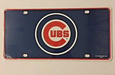 CHICAGO CUBS CAR TRUCK TAG LICENSE PLATE MLB BASEBALL METAL SIGN MAN CAVE