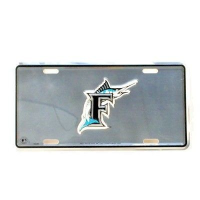 MIAMI FLORIDA MARLINS CAR TRUCK TAG CHROME LICENSE PLATE BASEBALL METAL SIGN MLB