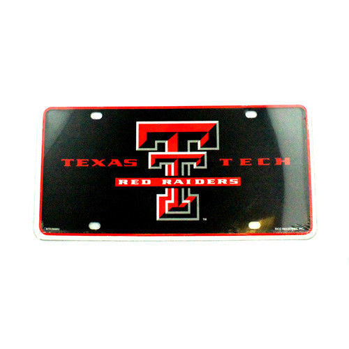 TEXAS TECH RED RAIDERS CAR TRUCK TAG LICENSE PLATE UNIVERSITY METAL SIGN