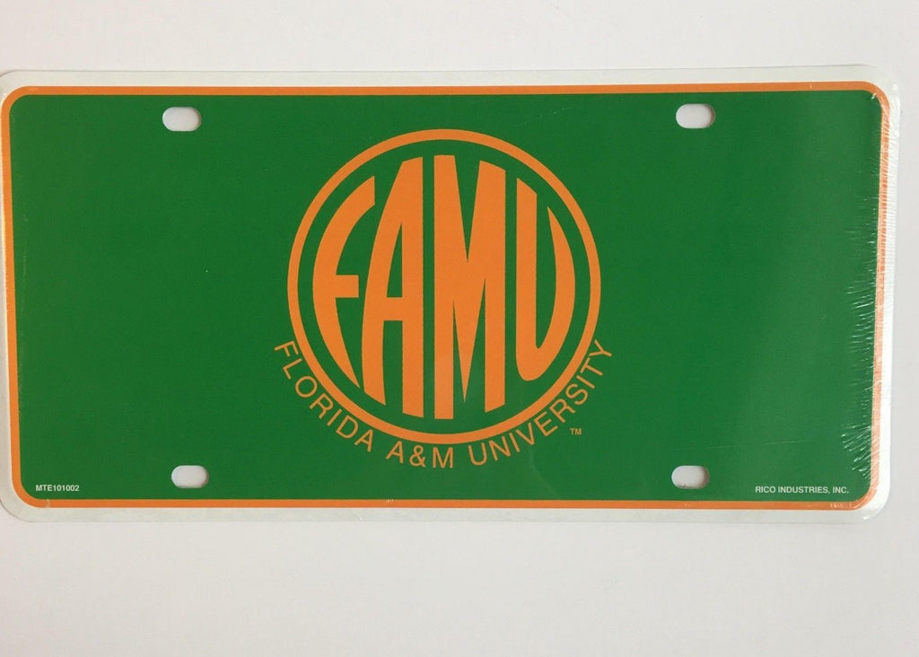 FLORIDA A&M RATTLERS UNIVERSITY CAR TRUCK TAG LICENSE PLATE METAL SIGN MAN CAVE