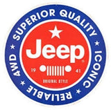 JEEP SUPERIOR QUALITY ROUND METAL EMBOSSED SIGN 12