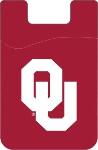 OKLAHOMA SOONERS CELL PHONE CARD HOLDER WALLET DESDEN SOLID UNIVERSITY