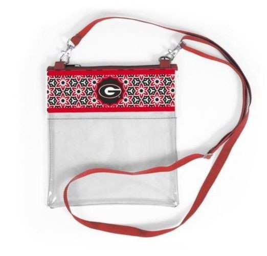 GEORGIA BULLDOGS CLEAR GAME DAY CROSSBODY BAG STADIUM APPROVED PURSE UNIVERSITY