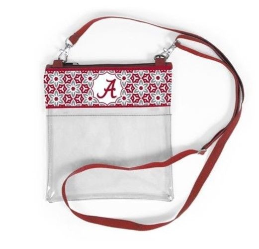 ALABAMA CRIMSON TIDE CLEAR GAME DAY CROSSBODY BAG STADIUM APPROVED PURSE
