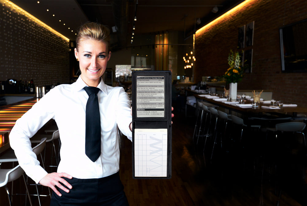 Waiter Wallet, the best selling and #1 rated server organizer book for waiters and waitresses