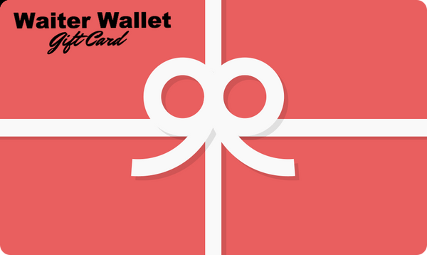 Waiter Wallet Gift Card, the ultimate server book for waitresses