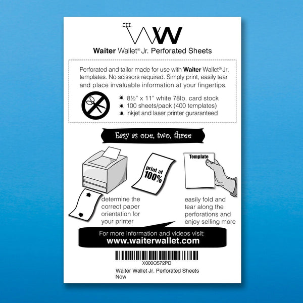 WW Jr. Perforated Sheets