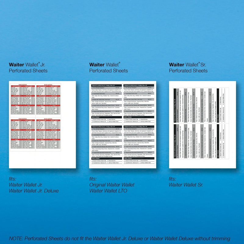 WW Sr. Perforated Sheets