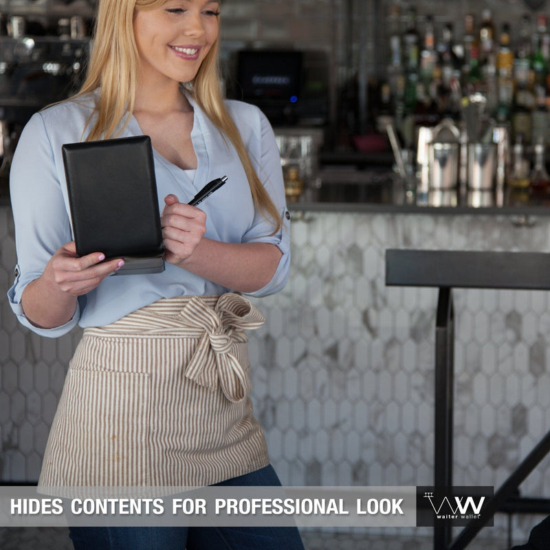 The Original Waiter Wallet hides its contents for a much more professional waitstaff appearance!
