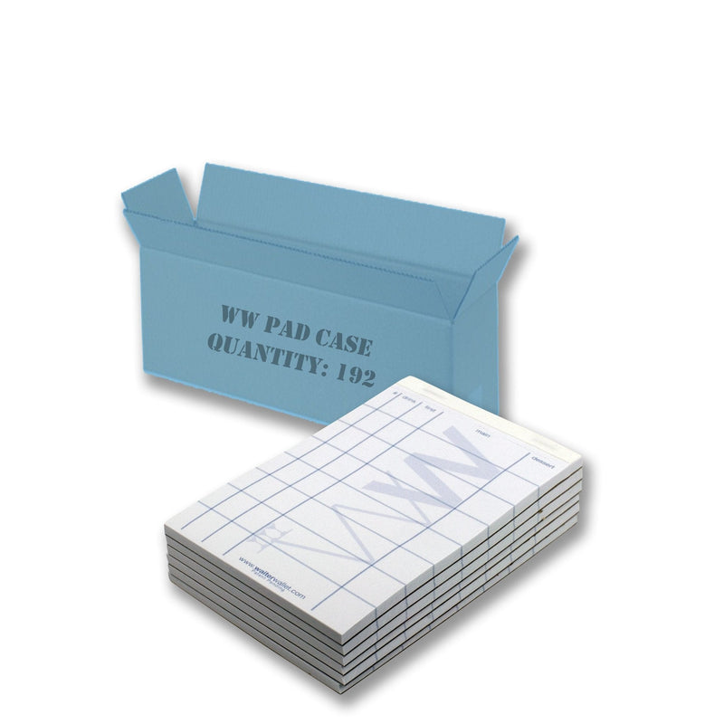 Waiter Wallet Jr. Pads Case of 192, perfectly formatted for fewer, costly mistakes