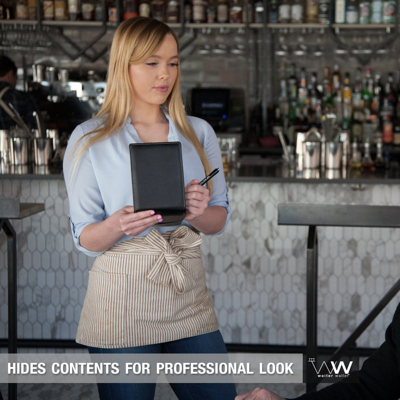 Waiter Wallet Deluxe's professional appearance makes every server look amazing!