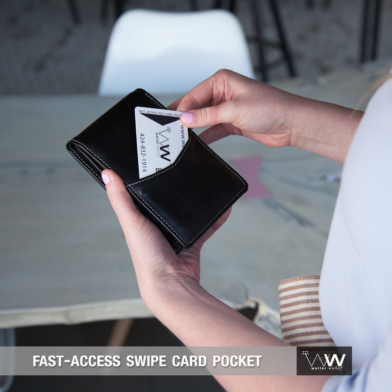 Waiter Wallet Jr. Deluxe's fast access POS swipe card pocket makes waiting tables fast and easy!