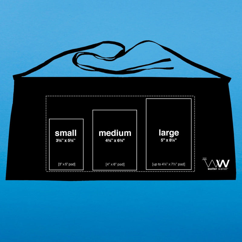Waiter Wallet is available in small, medium and large sizes so there is a server book for every waiter and waitress.