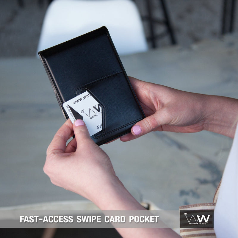 Waiter Wallet Jr's fast access POS swipe card pocket makes waiting tables fast and easy!