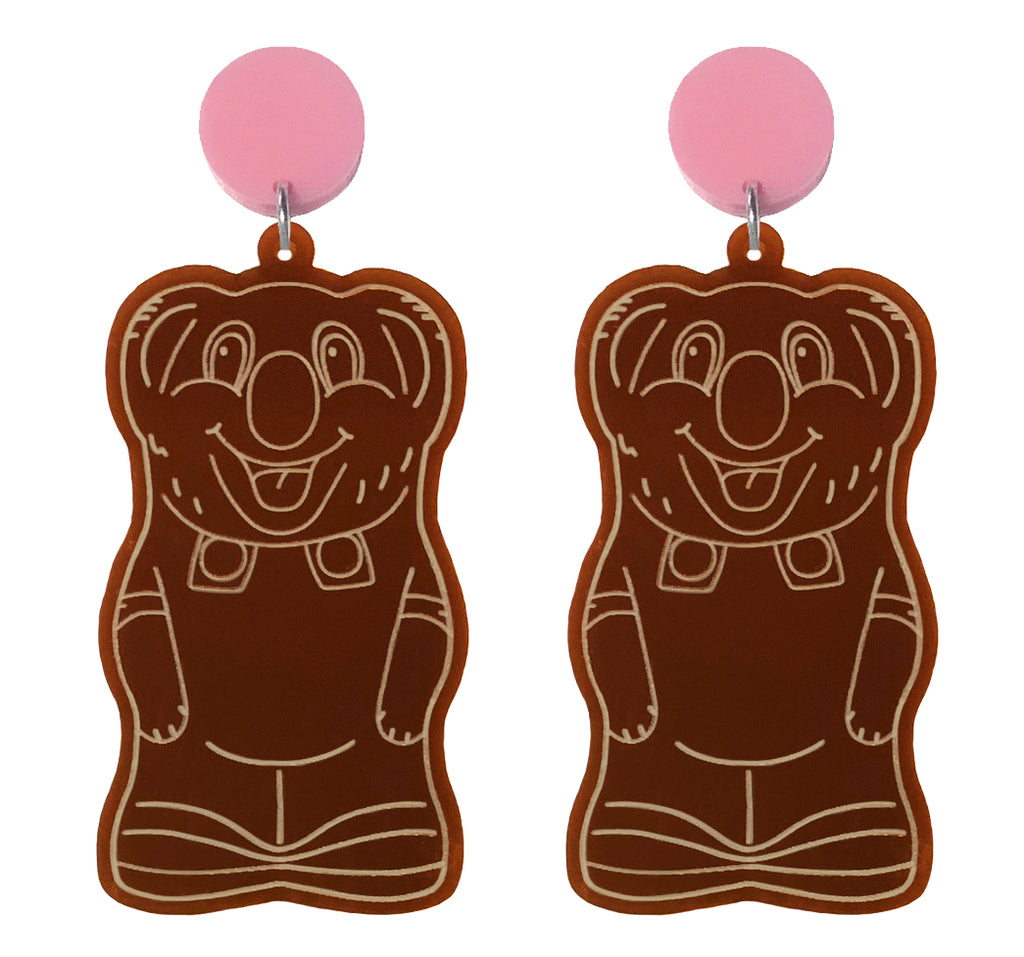 Chocolate Koala Earrings