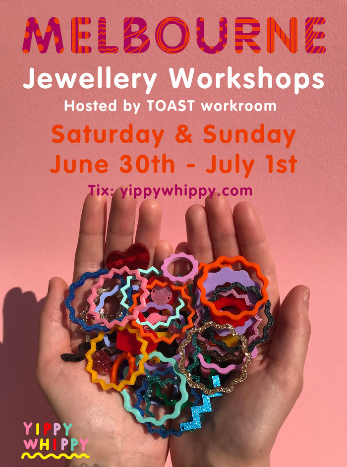 *MELBOURNE Yippywhippy Jewellery Workshop hosted by TOAST workroom*