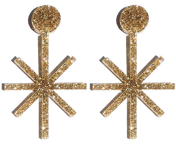 Art Deco Star Earrings