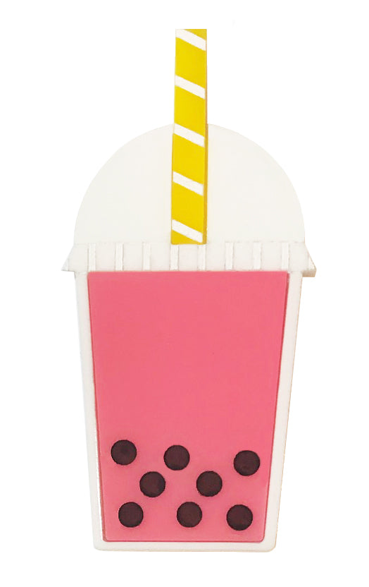 Bubble Tea Brooch