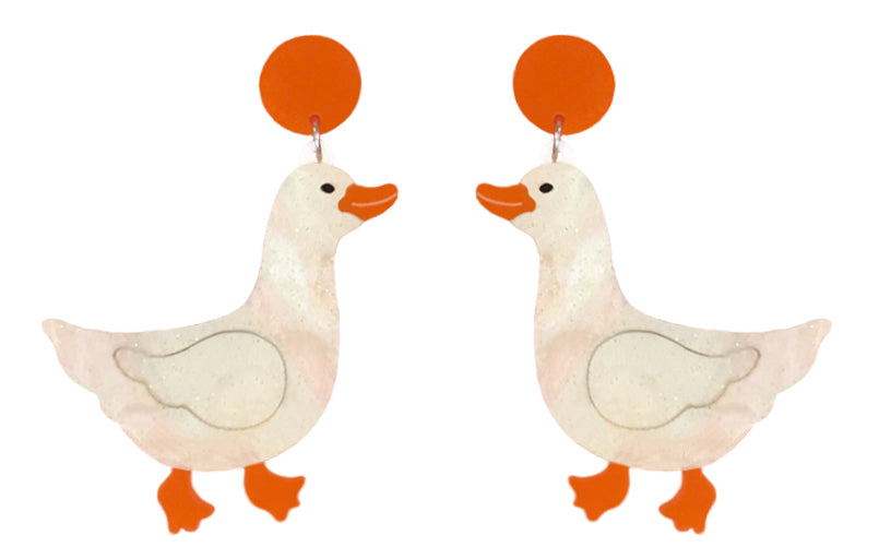 Duck Earrings