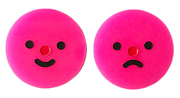Happy Sad Face Studs
