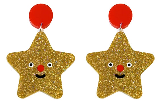 Happy Star Earrings