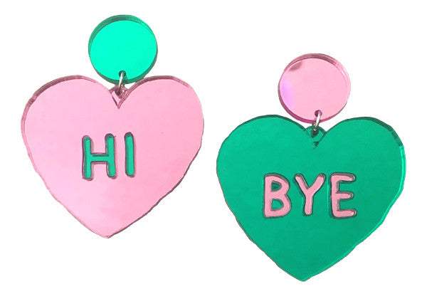 Hi Bye Heart Earrings