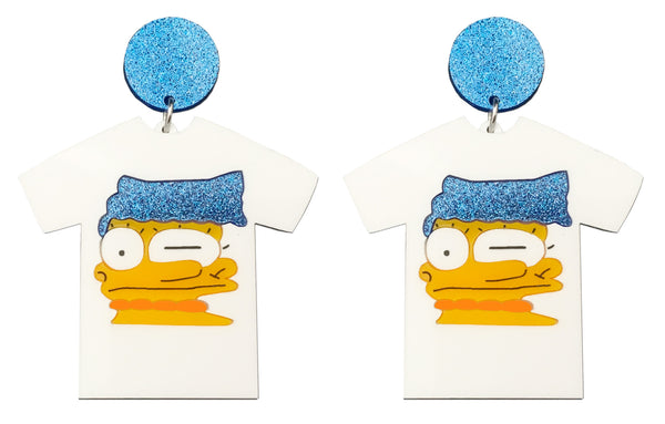 Smeared Marge T-Shirt Earrings