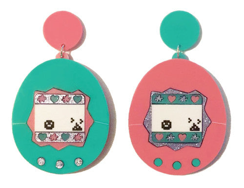 Virtual Pet Earrings