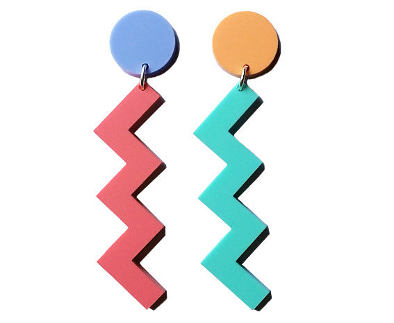 Zigzag Earrings - Large