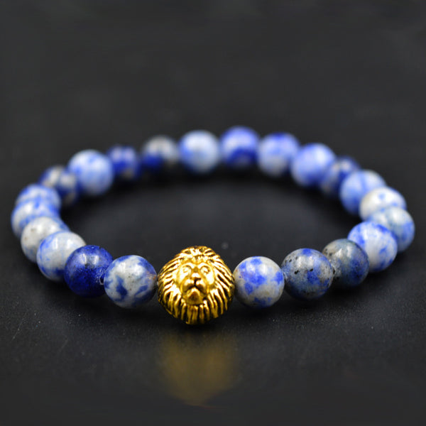 Beaded Bracelet - Buddha Lion Charm - The Bracelet Shop