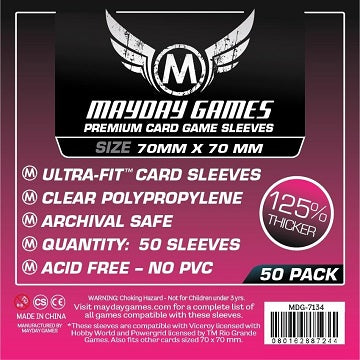 Mayday - Premium Small Square Card Sleeves  70mm x 70mm (50CT) - The Dice Owl
