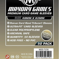 Mayday - Premium Tribune Card Sleeves 49mm x 93mm (50CT)