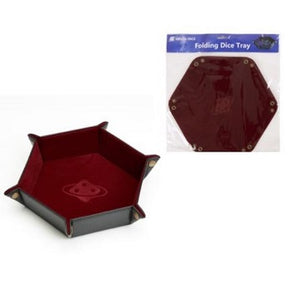 SD Dice Hex Tray Burgundy w/Copper Buttons - The Dice Owl