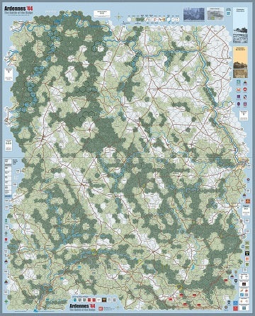 Ardennes '44 Mounted Maps - Board Game - The Dice Owl