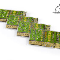 Clans of Caledonia Acrylic Overlays for Player Boards - Supplies - The Dice Owl