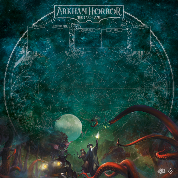 Arkham Horror: The Card Game – Countless Terrors 1-4 Player Playmat - The Dice Owl