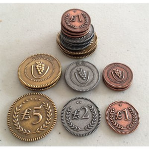 Viticulture/Tuscany: Metal Lira Coins