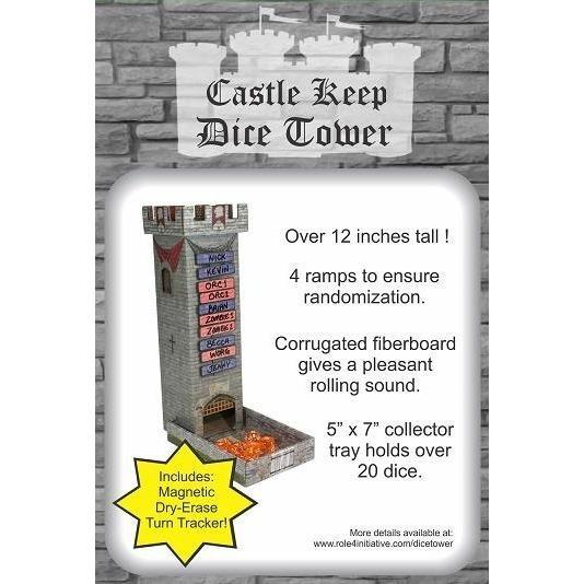 Castle Keep Dice Tower with Magnetic Turn Tracker - Supplies - The Dice Owl