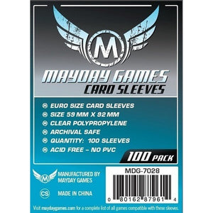 Mayday - Standard Euro Sleeves 59mm x 92mm (100CT)