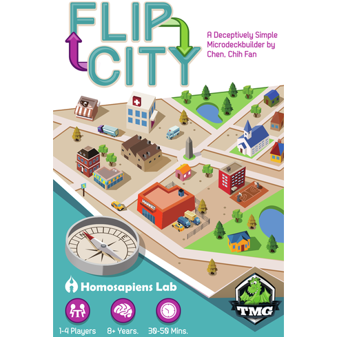 Flip City - Board Game - The Dice Owl