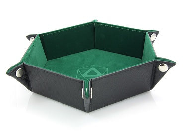 Die Hard Folding Hex Tray w/ Green Velvet - Supplies - The Dice Owl