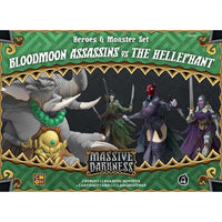 Massive Darkness: Heroes & Monster Set – Bloodmoon Assassins vs The Hellephant - Board Game - The Dice Owl