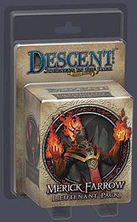 Descent: Journeys in the Dark (Second Edition) – Merick Farrow Lieutenant Pack - Board Game - The Dice Owl