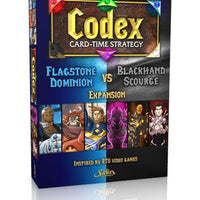 Codex: Card-Time Strategy – Flagstone Dominion vs. Blackhand Scourge Expansion - Board Game - The Dice Owl