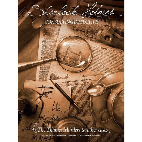Sherlock Holmes Consulting Detective: The Thames Murders and Other Cases - Board Game - The Dice Owl