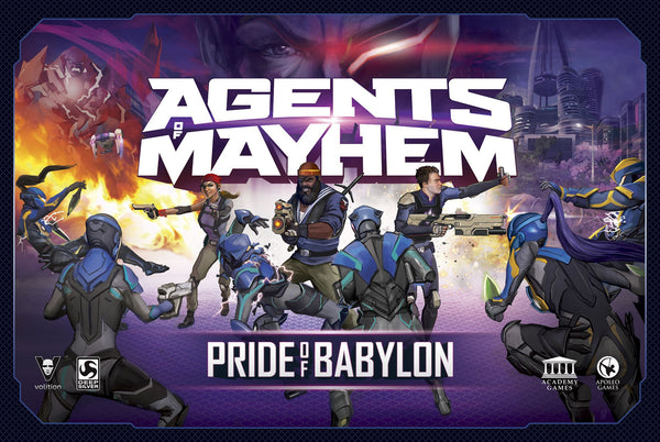 Agents of Mayhem: Pride of Babylon - Board Game - The Dice Owl