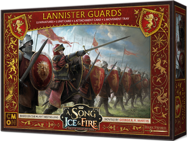 A Song of Ice & Fire: Tabletop Miniatures Game – Lannister Guardsmen - Board Game - The Dice Owl